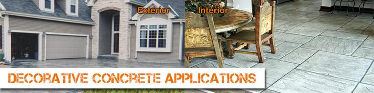 Decorative Concrete Applications